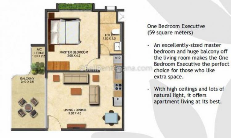 1 Bedroom Luxury Apartment, East Legon, Accra, Flat for Sale