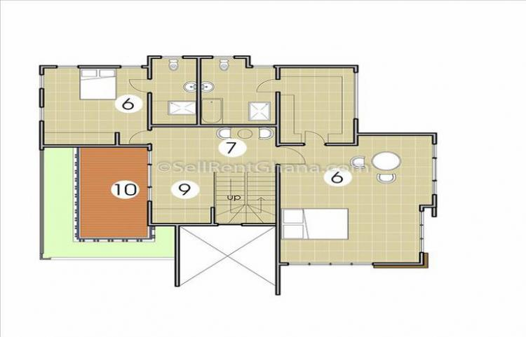 3 Bedroom House + 1 Staff Quarters, La Dade Kotopon Municipal, Accra, House for Sale
