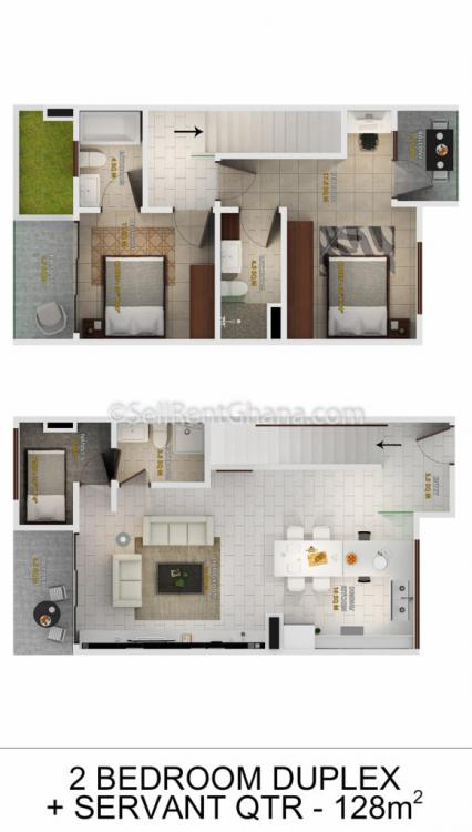 1 Bedroom Mixed Use Apartment, North Labone, Accra, Flat for Rent