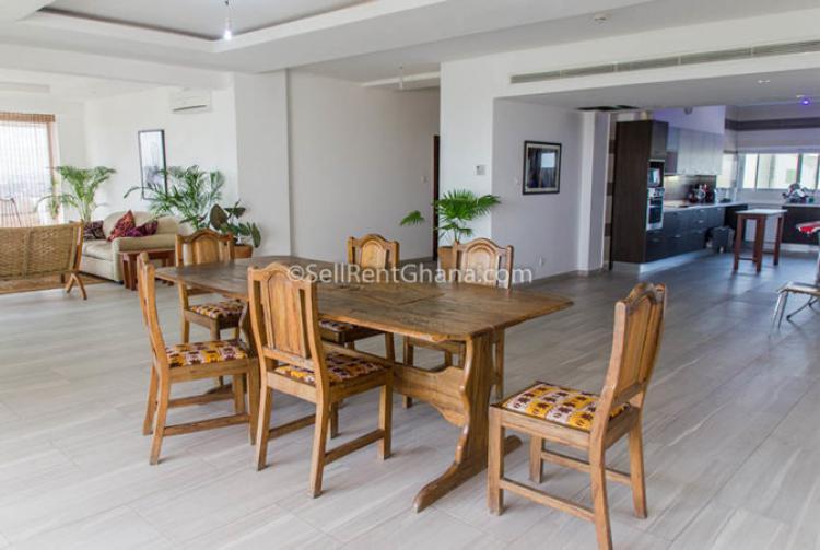 3 Bedroom Apartments, Cantonments, Accra, Flat for Rent