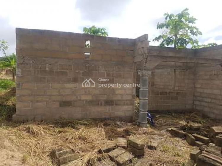 Uncompleted 2 Units of 2 Bedroom Apartments, Fetteh, Abura/asebu/kwamankese, Central Region, Flat for Sale