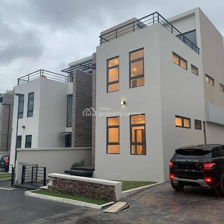 Luxury 4 Bedroom Fully Furnished in Airport Residential Area, Airport Residential Area, Accra, Townhouse for Rent