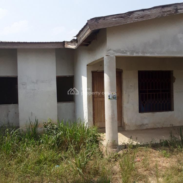 3bedrooms Self Contain and 2bedroom Story Building with Stores, Awutu-senya, Central Region, House for Sale