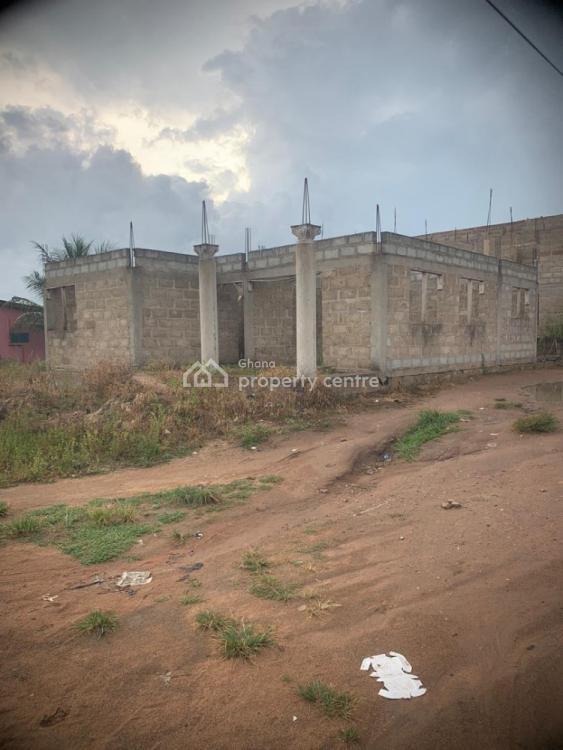 Uncompleted 3 Bedroom 2 Story House  on The Kasoa Nyanyanor Road, Kasoa Nyanyano Road, Awutu-senya, Central Region, House for Sale