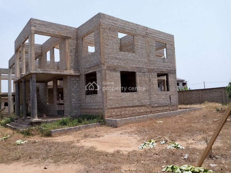 Uncompleted 5bedrooms+3boys Quarters at Lashibi, Lashibi, Tema, Accra, Townhouse for Sale