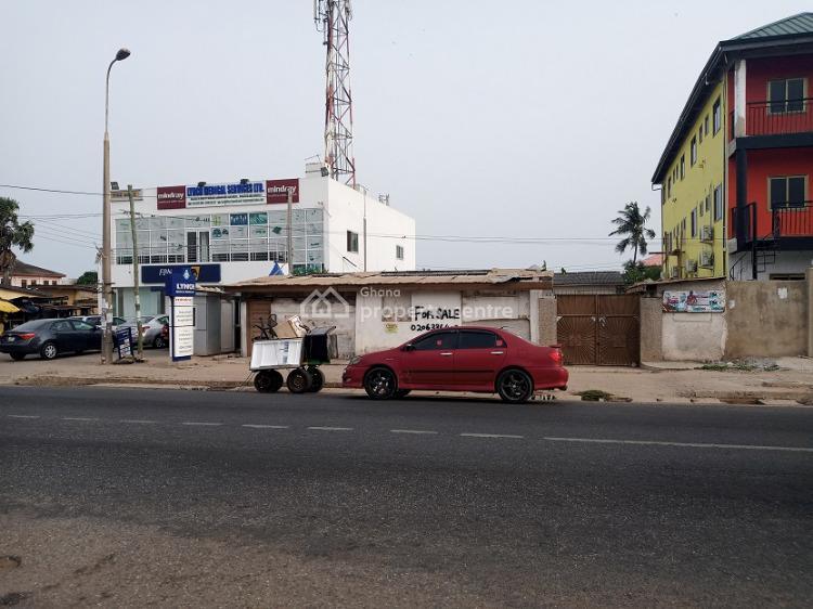 1plot of Commercial Main Roadside Land Walled in Korlebu, Korle Gonno,accra, Korle Gonno, Accra, Commercial Land for Sale