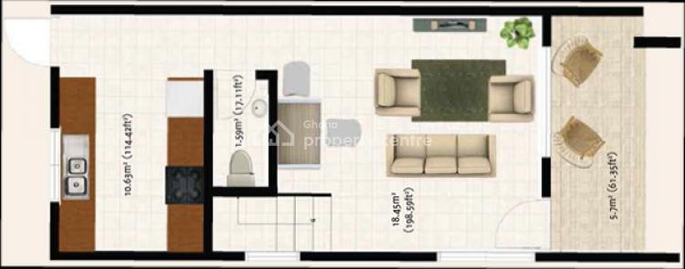 2 Bedroom Terrace Houses  at East Legon-school Junction, Adjiringanor, East Legon, Accra, Terraced Duplex for Sale