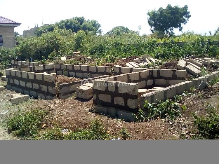 1 Plot of Land with 2 Bedrooms Self Contain Foundation Level, New Winneba-police Station, Effutu Municipal, Central Region, Residential Land for Sale