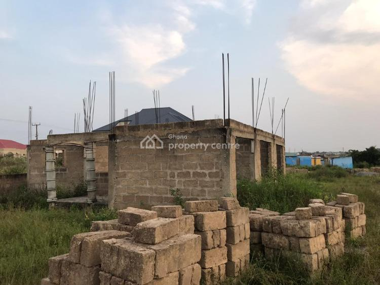 Uncompleted 3 Bedroom House, Oduntia, Amasaman, Ga West Municipal, Accra, House for Sale