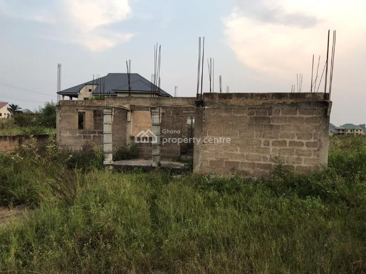 3 Bedroom Apartment with 3 Commercial Stores, Amasaman Oduntia Community, Ga East Municipal, Accra, House for Sale
