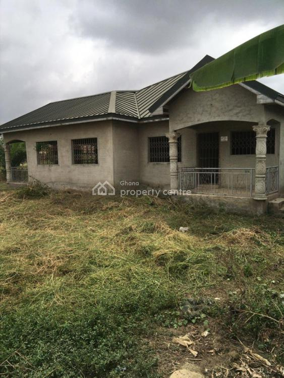 80% Completed 4-bedroom House, Kasoa, Congo Villa, Assin North Municipal, Central Region, Detached Bungalow for Sale