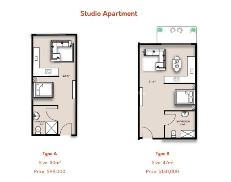 Studio Apartment, Airport Residential Area, Accra, Self Contained (single Rooms) for Sale