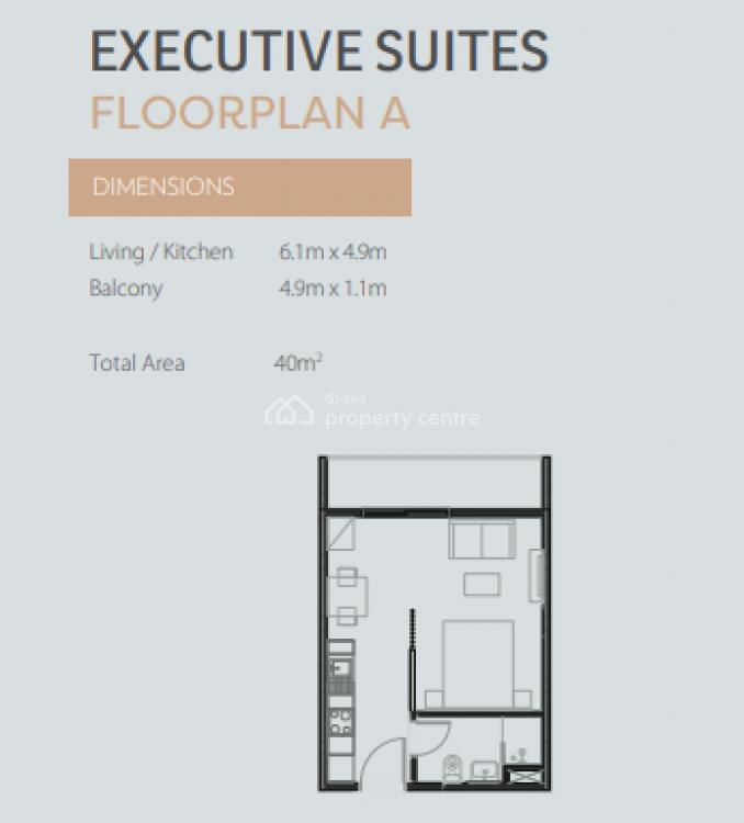 Executive Studio Apartment, East Legon, Accra, Self Contained (single Rooms) for Sale