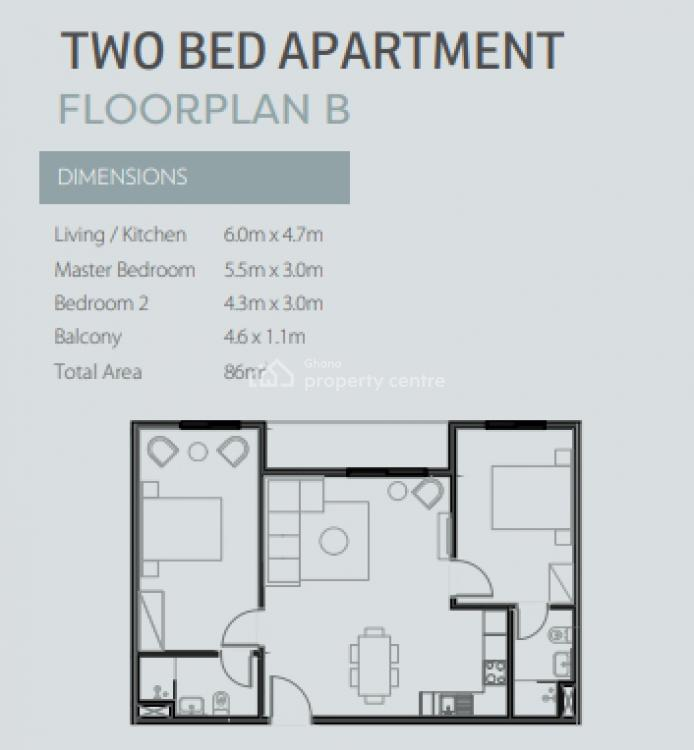 2 Bedroom Apartment, East Legon, Accra, Apartment for Sale