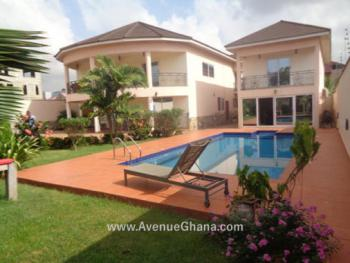 4 Bedroom Furnished House with 3 Bedroom Guest House and Swimming Pool, East Airport, Airport Residential Area, Accra, Detached Duplex for Sale